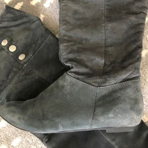 Chinese Laundry Shoes - Suede Thigh High Boots Over the Knee